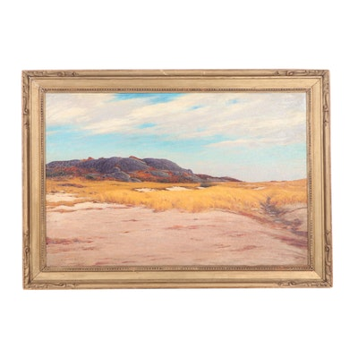 George W. Harvey Landscape Oil Painting