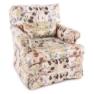 Staffordshire Dog Printed Chintz Armchair