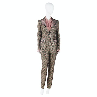 Dolce & Gabbana Brocade Pantsuit Worn at the 70th  Primetime Emmy Awards