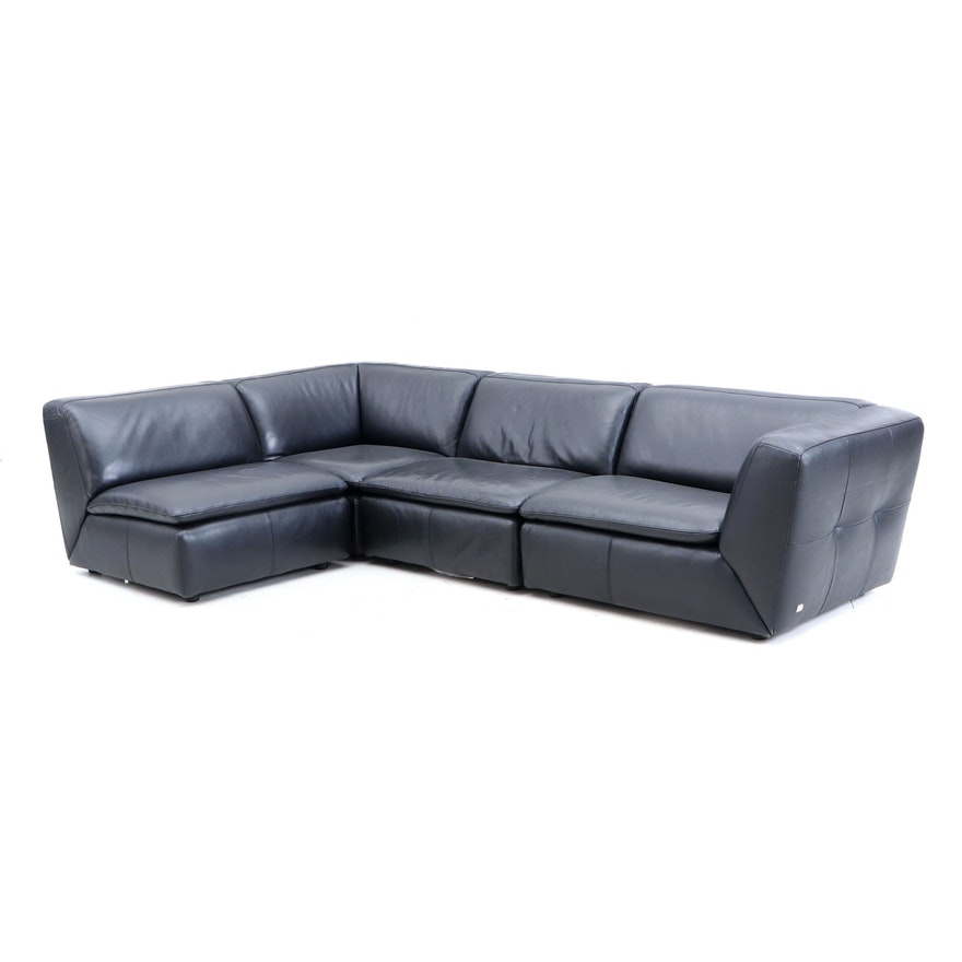 Contemporary Italian Homes LLC Sectional and Ottoman Set