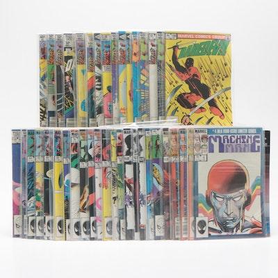 "Marvel Bronze Age Comic Books Including ""Daredevil"" and ""The Elektra Saga"""