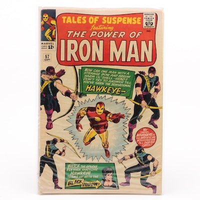 """1964 Marvel """"Tales of Suspense"""" #57 Hawkeye First Appearance"""