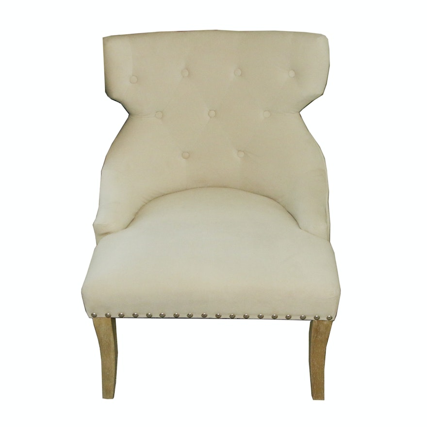 Custom Fabric Accent Chairs.Office Star Products Button Tufted Custom Upholstered Accent Chair