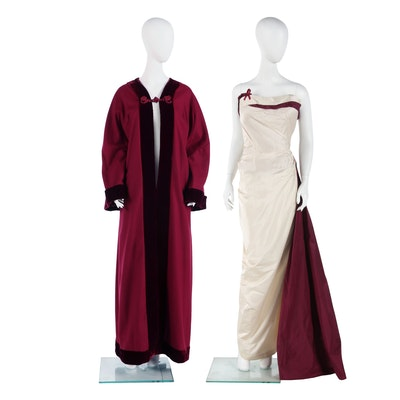 Custom Designed Colleen Atwood Gown and Cape Worn at 1993 Inaugural Ball