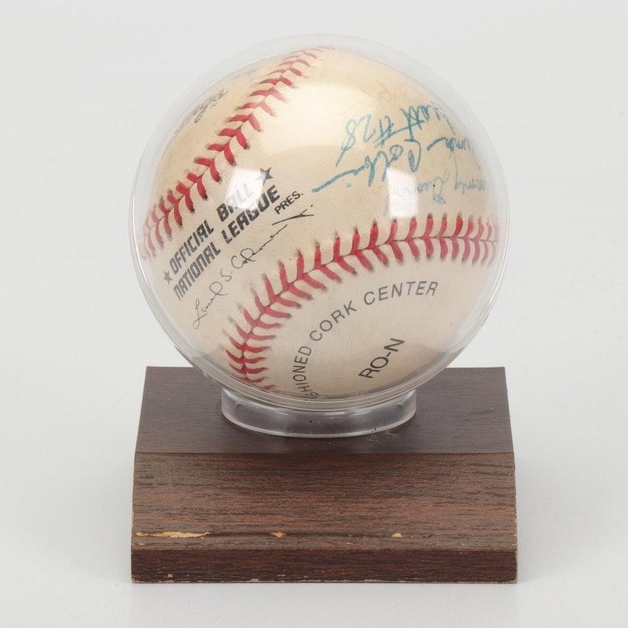 Autographed Negro Leagues Baseball, Circa 1999
