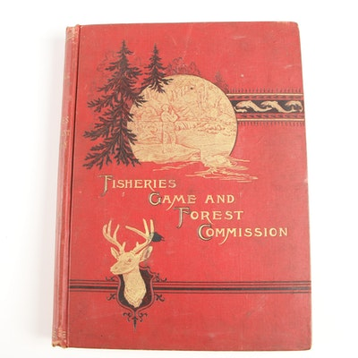 "1896 ""First Annual Report of the Commissioners of Fisheries, Game and Forests"""