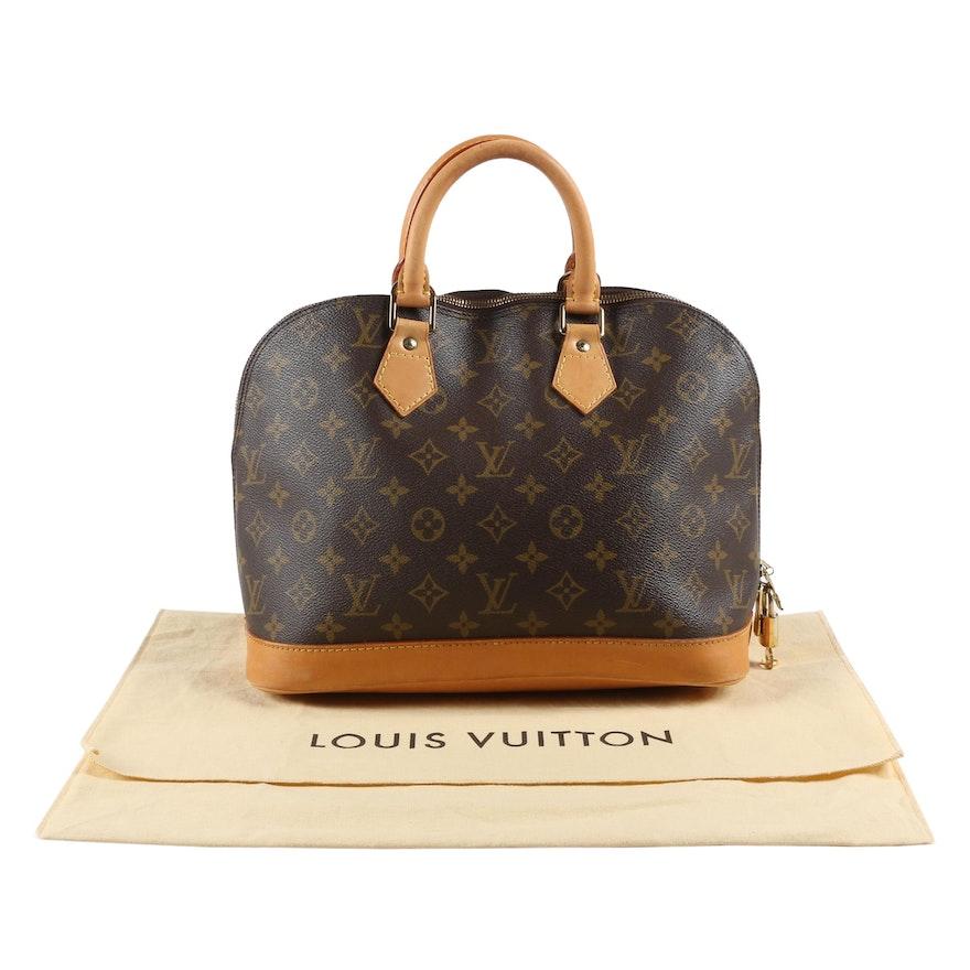 Louis Vuitton Paris Alma PM Bag in Monogram Canvas and Leather