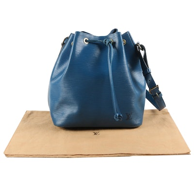 Louis Vuitton Petite Noé in Toledo Blue Epi Leather