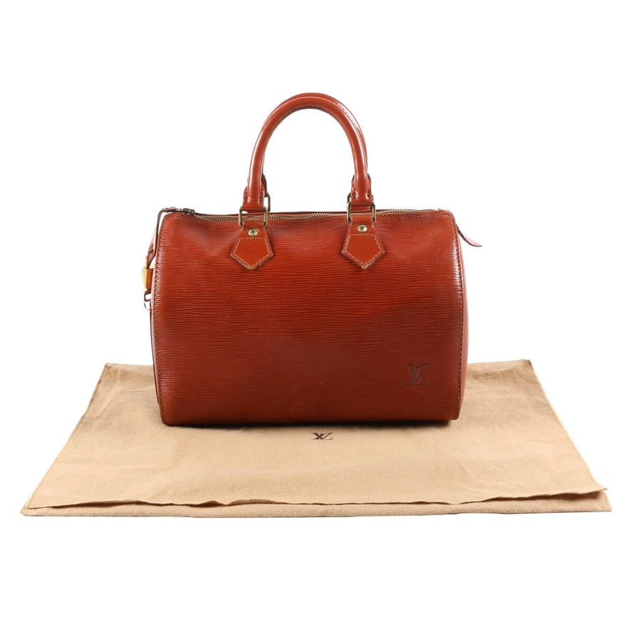 Louis Vuitton Paris Speedy 25 Bag in Kenyan Fawn Epi Leather