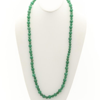 Aventurine and Quartz Endless Beaded Necklace