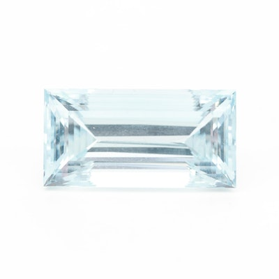 Loose 39.24 CT Rectangular Faceted Blue Topaz Gemstone