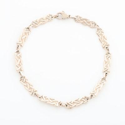 Sterling Silver Celtic Knot Link Bracelet