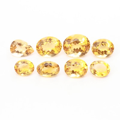 Loose 105.38 CTW Citrine Gemstones