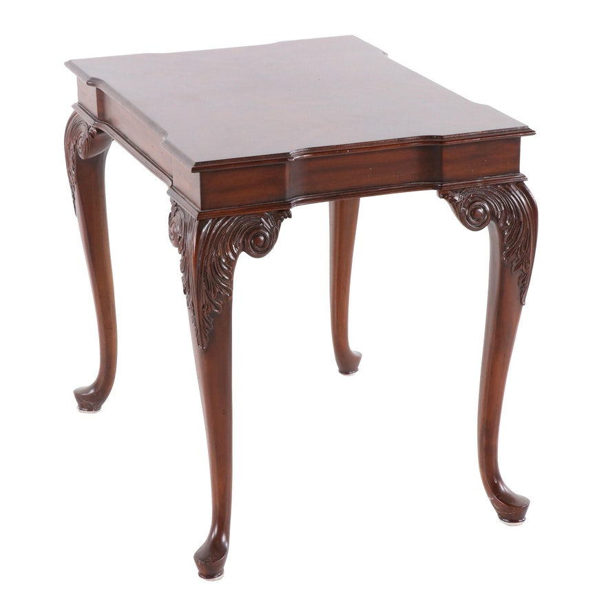 Maitland Smith George Iii Style Table With Book Matched Mahogany Top