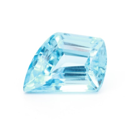 Loose 20.57 CT Fantasy Cut Topaz Gemstone