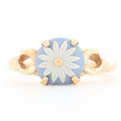 14K Yellow Gold Jasperware Ring