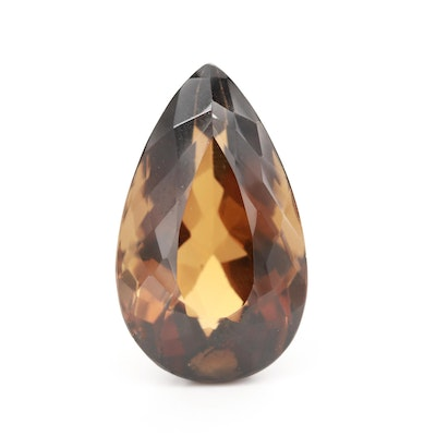 Loose 20.17 CT Pear Faceted Topaz Gemstone