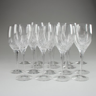 "Orrefors ""Prelude Clear"" Crystal Water Goblets and Clarets"