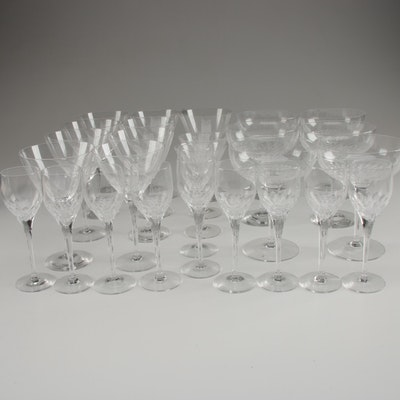 "Orrefors ""Prelude"" Crystal Champagne Coupes, Martini Glasses, and More"