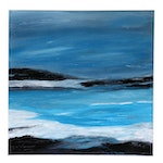 "Neville Shenton Abstract Acrylic Painting ""Tide Pool"""