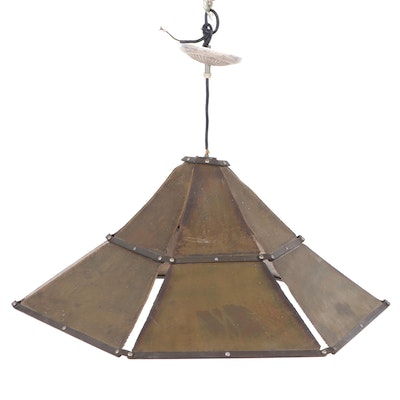 Metal Chandelier Attributed to Eric Canon, Contemporary