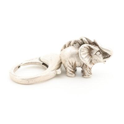 C'est Laudier Sterling Silver Elephant Keychain