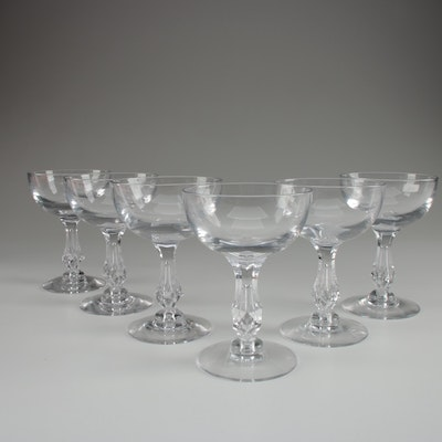 "Tiffan-Franciscan ""Mahal""  Crystal Champagne Coupes, 1960s"