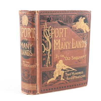 "1877 Illustrated ""Sport in Many Lands"" by Henry Astbury Leveson"