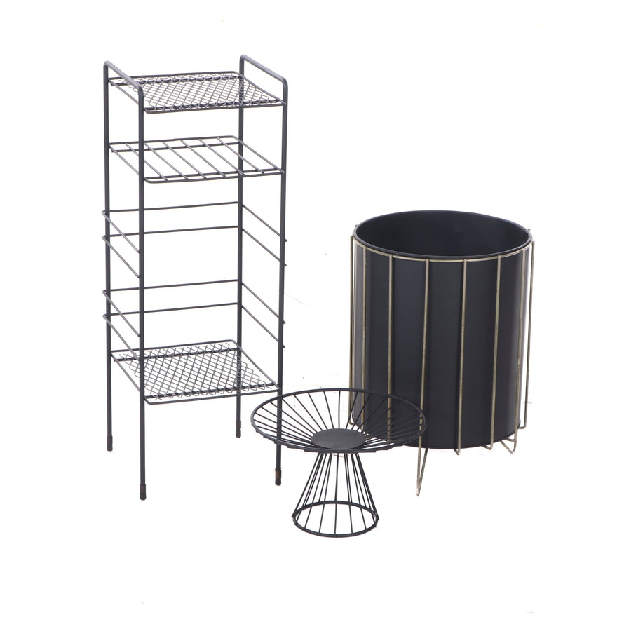 Three Pieces Of Modernist Style Metal Furniture Ebth