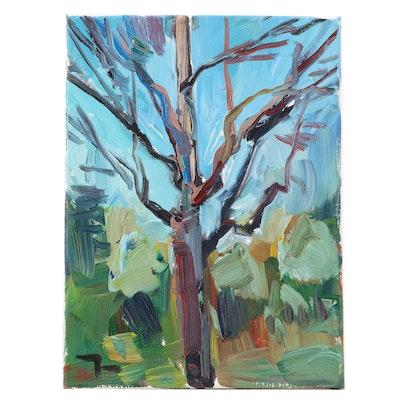 "Jose Trujillo Oil Painting ""The Tree"""