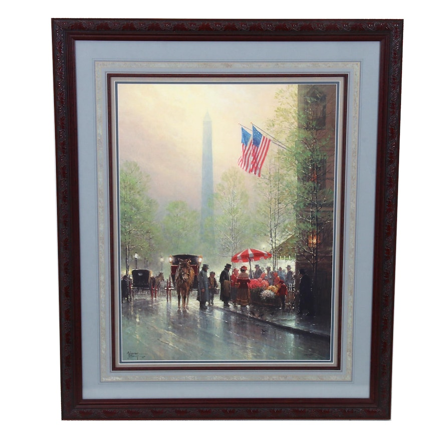"G. Harvey Offset Lithograph ""Pinnacle of Freedom"""