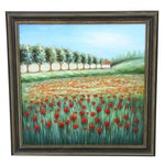 Poppy Field Oil Painting