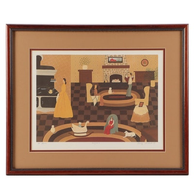 "Offset Lithograph after Nancy Lubeck ""At Home"""