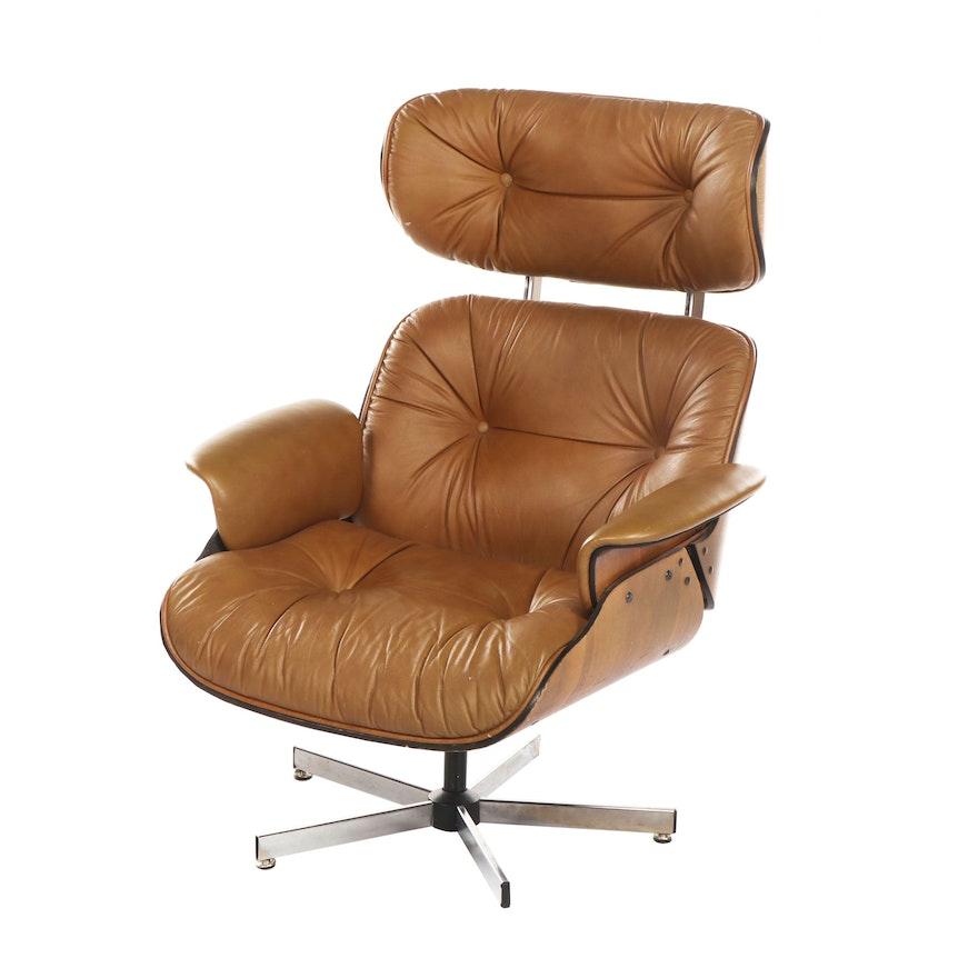 Awe Inspiring Modern Frank Doerner Leather Upholstered Plywood Lounge Chair After Eames 1970S Andrewgaddart Wooden Chair Designs For Living Room Andrewgaddartcom