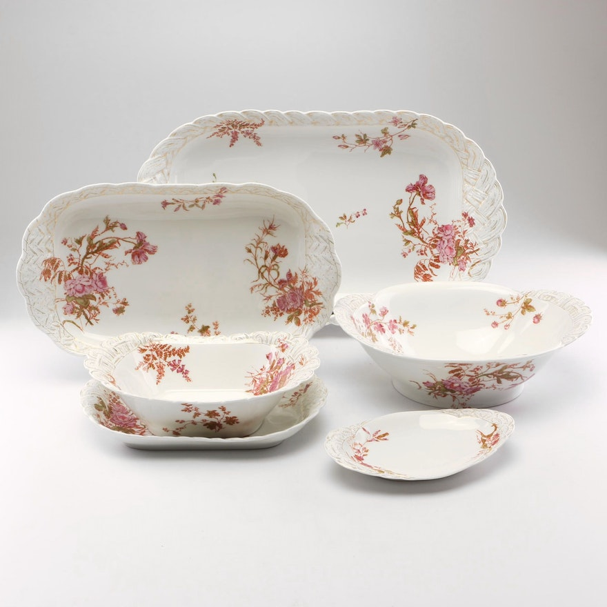 Haviland Porcelain Serving Dishes, 1876-1889