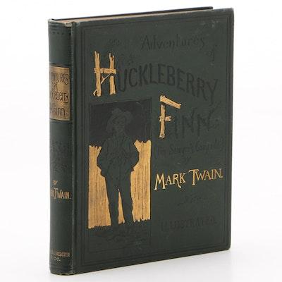 "1885 First American Edition ""Adventures of Huckleberry Finn"" by Mark Twain"