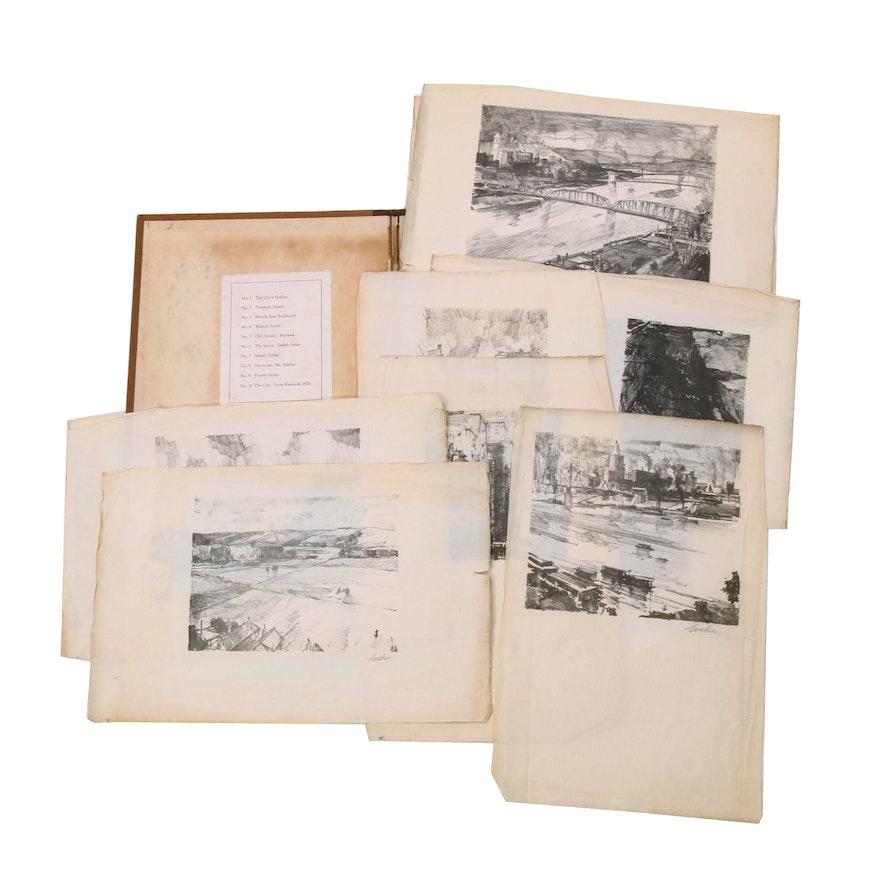 Charles Locke Folio of Lithographs of Cincinnati Views