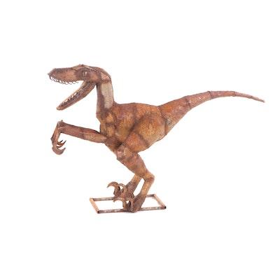 Scrap Metal Dinosaur Sculpture
