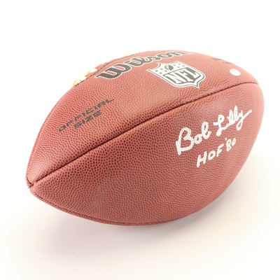 Bob Lilly Autographed Football