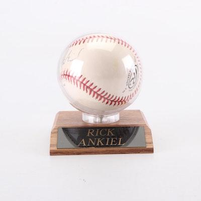 Rick Ankiel Autographed Baseball in Display