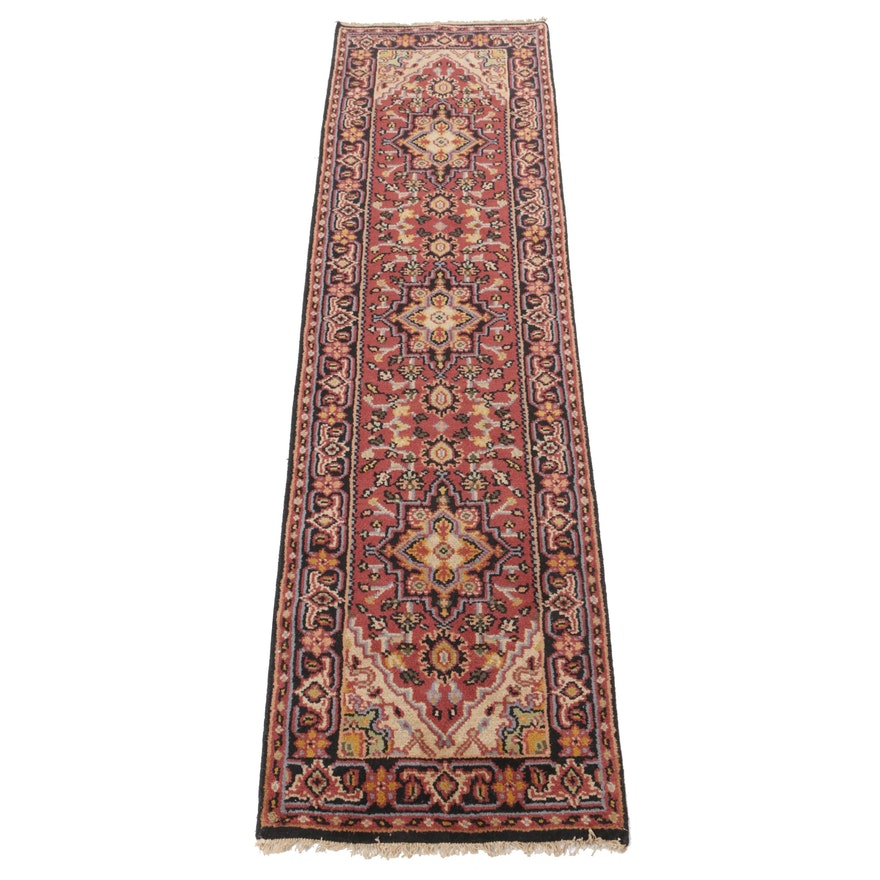 Hand-Knotted Indo-Persian Heriz Carpet Runner