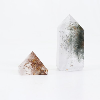 Polished Rutilated Quartz Points