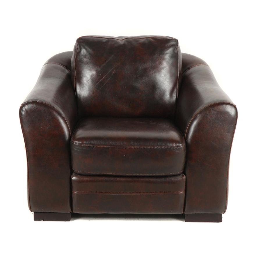 Swell Contemporary Faux Leather Club Chair With Ottoman Inzonedesignstudio Interior Chair Design Inzonedesignstudiocom