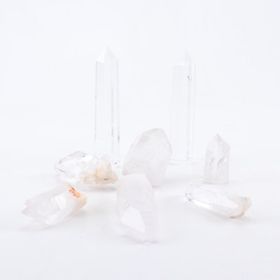 Polished Quartz Crystal Points