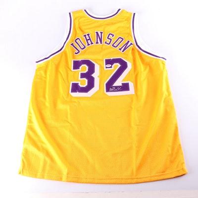 Magic Johnson Autographed Los Angeles Lakers Replica Jersey, PSA COA