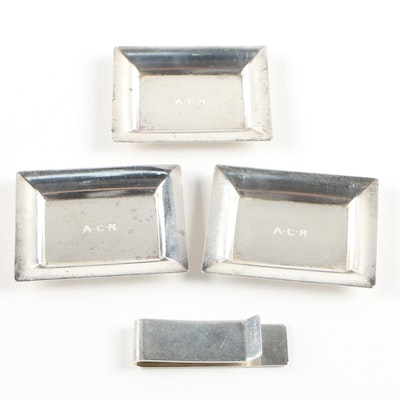 Tiffany & Co. Sterling Silver Money Clip and Nut Dishes