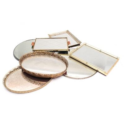 Metal Mirror Vanity and Plateau Trays, Vintage