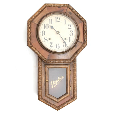 Regulator Wall Clock, circa 1900