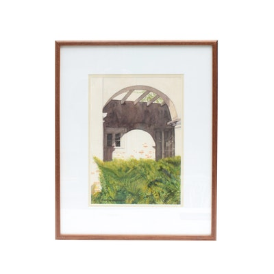 Watercolor of Archway