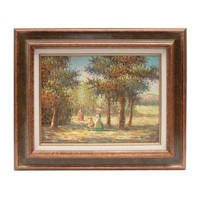 21st Century Figural Landscape Oil Painting